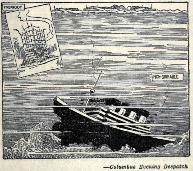 Titanic disaster editorial cartoon 1912 (19)