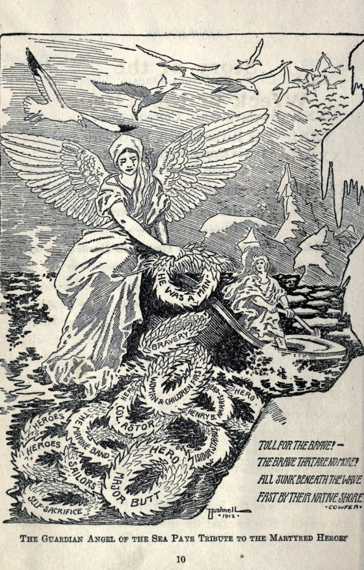 Titanic disaster editorial cartoon 1912 (3)