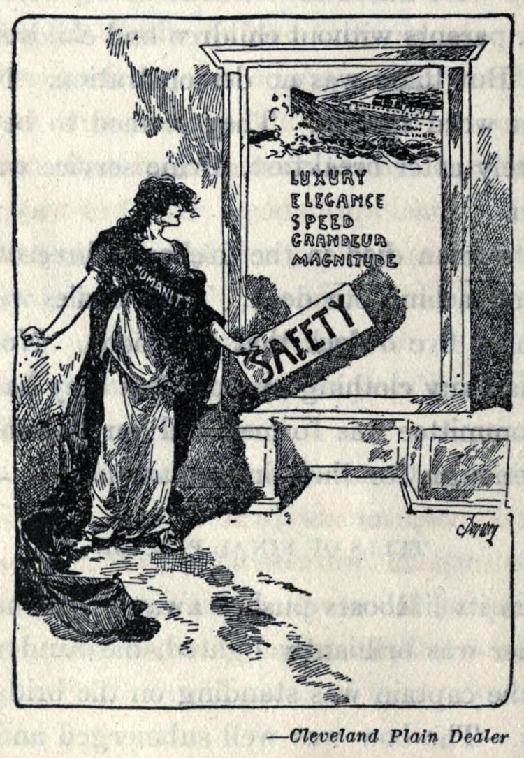 Titanic disaster editorial cartoon 1912 (4)