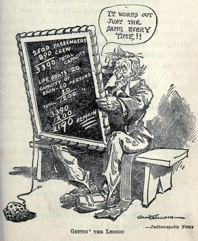 Titanic disaster editorial cartoon 1912 (7)