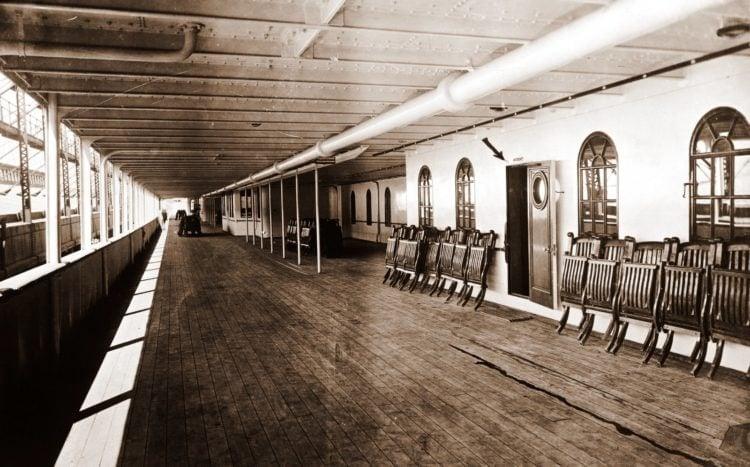 Promenade Deck of the Titanic