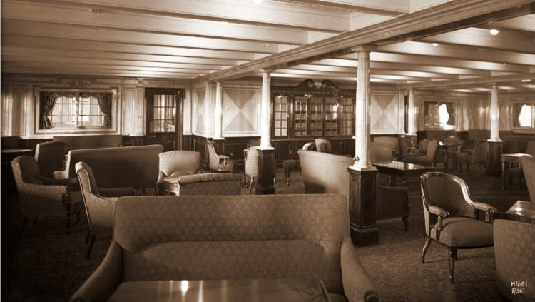 Titanic second class library