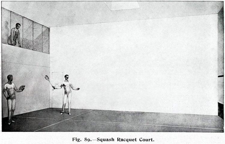 Titanic squash court