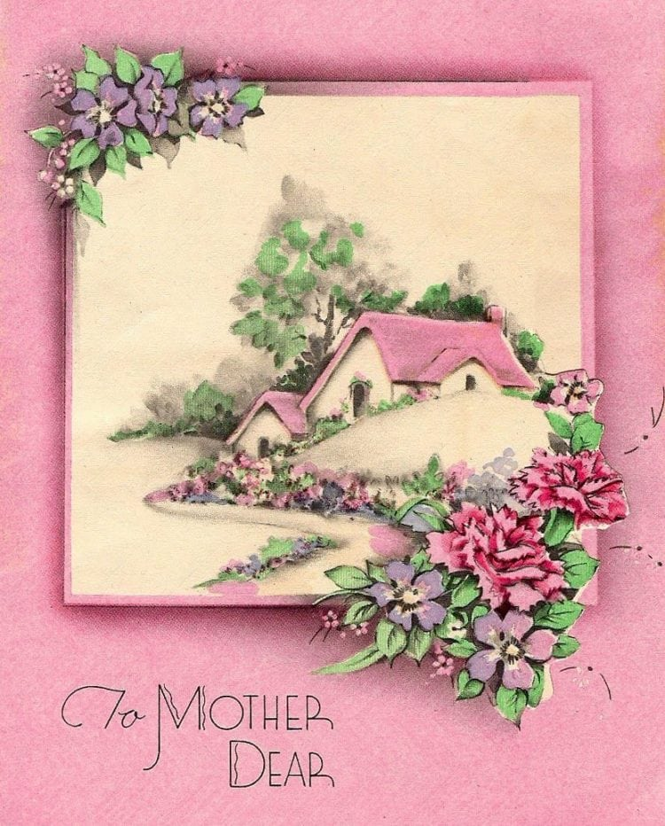 To Mother Dear - Vintage Mother's Day cards