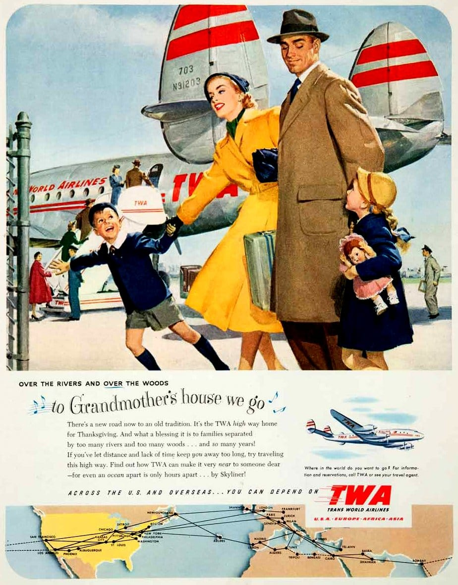 To grandmother's house you go via TWA for Thanksgiving (1951)