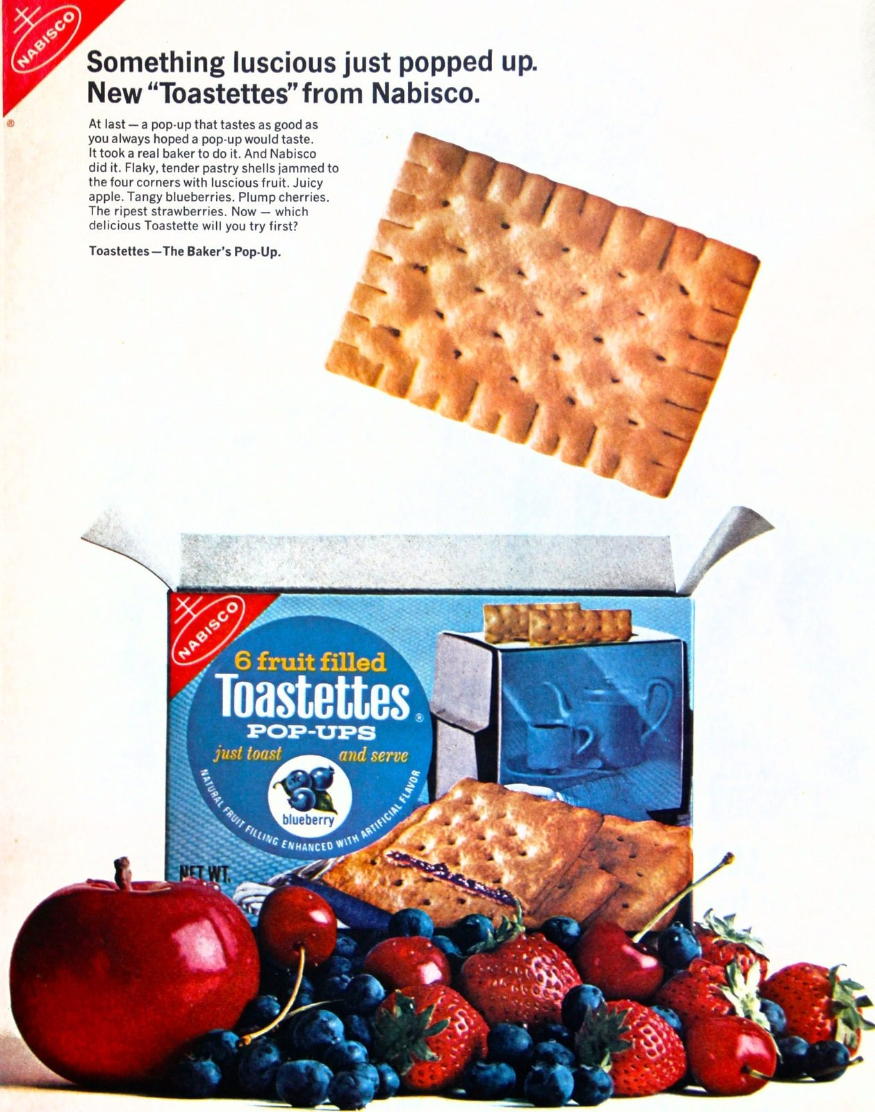 Toastettes pop-ups toaster pastries from the 1960s