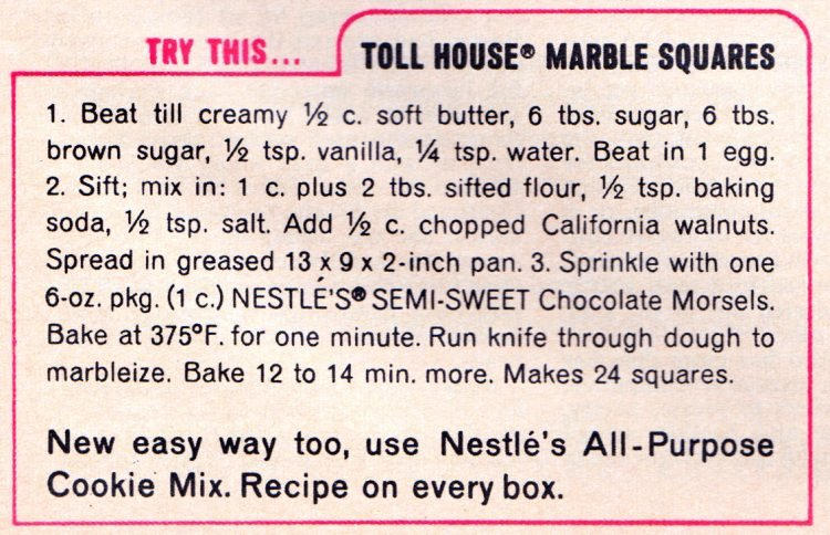 Toll House Marble Squares bar cookies recipe (2)