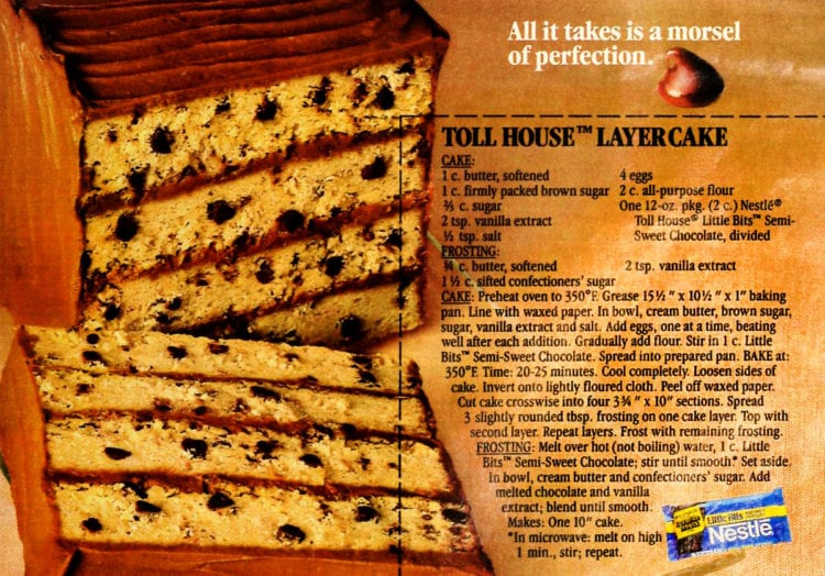 Toll House layer cake recipe (1986)