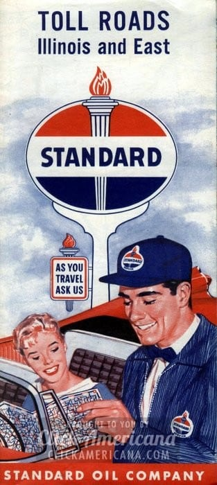 Toll Roads - Illinois & East Standard Oil road map