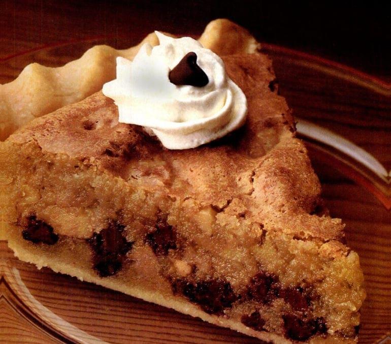 Toll house pie vintage dessert recipe