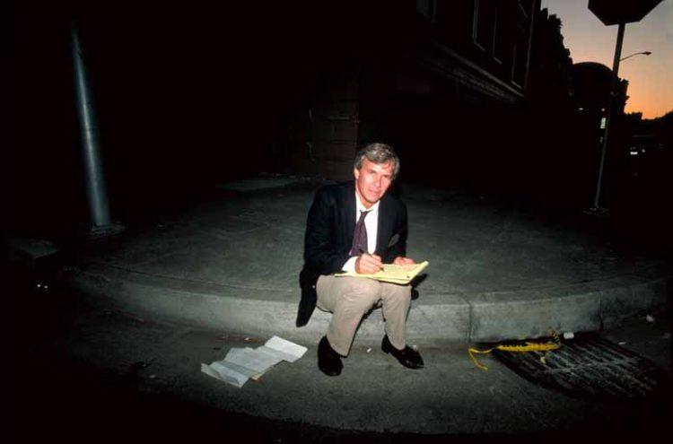 Tom Brokaw Prepares Script Credit J.K. Nakata, U.S. Geological Survey
