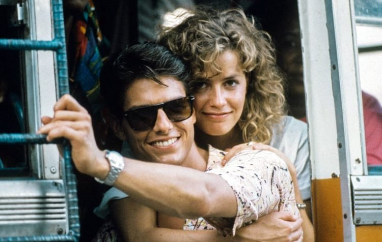 Tom Cruise and and Elisabeth Shue in Cocktail movie