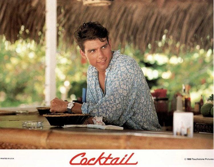 Tom Cruise at Jamaica beach bar 1988 - Cocktail movie