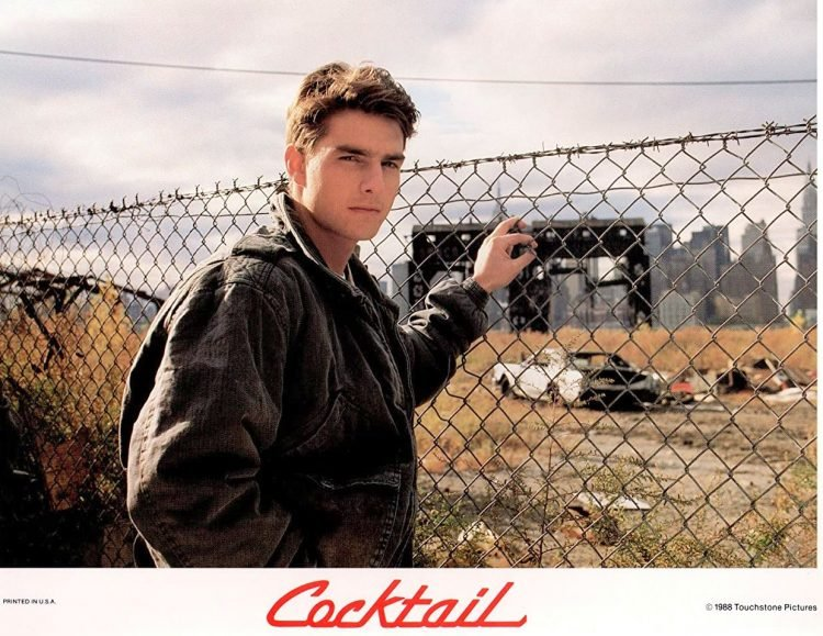 Tom Cruise in the movie Cocktail 1988