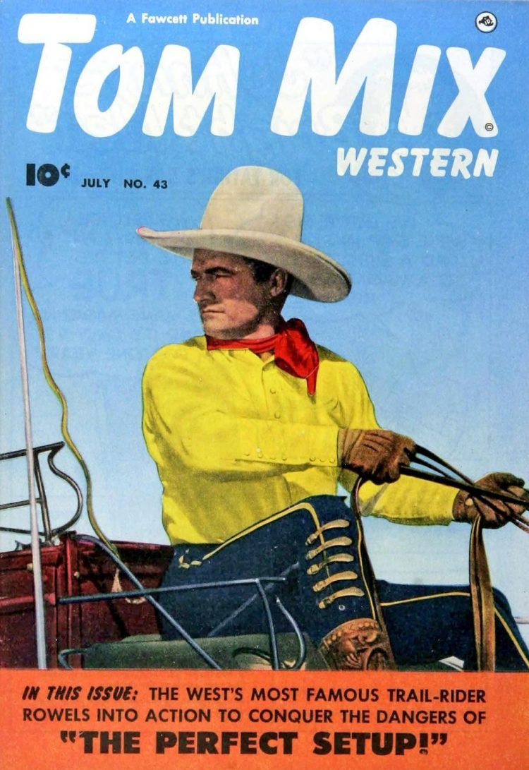 Tom Mix Western comic book cover from 1951