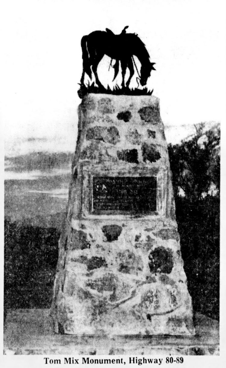 Tom Mix monument - Arizona - 1957