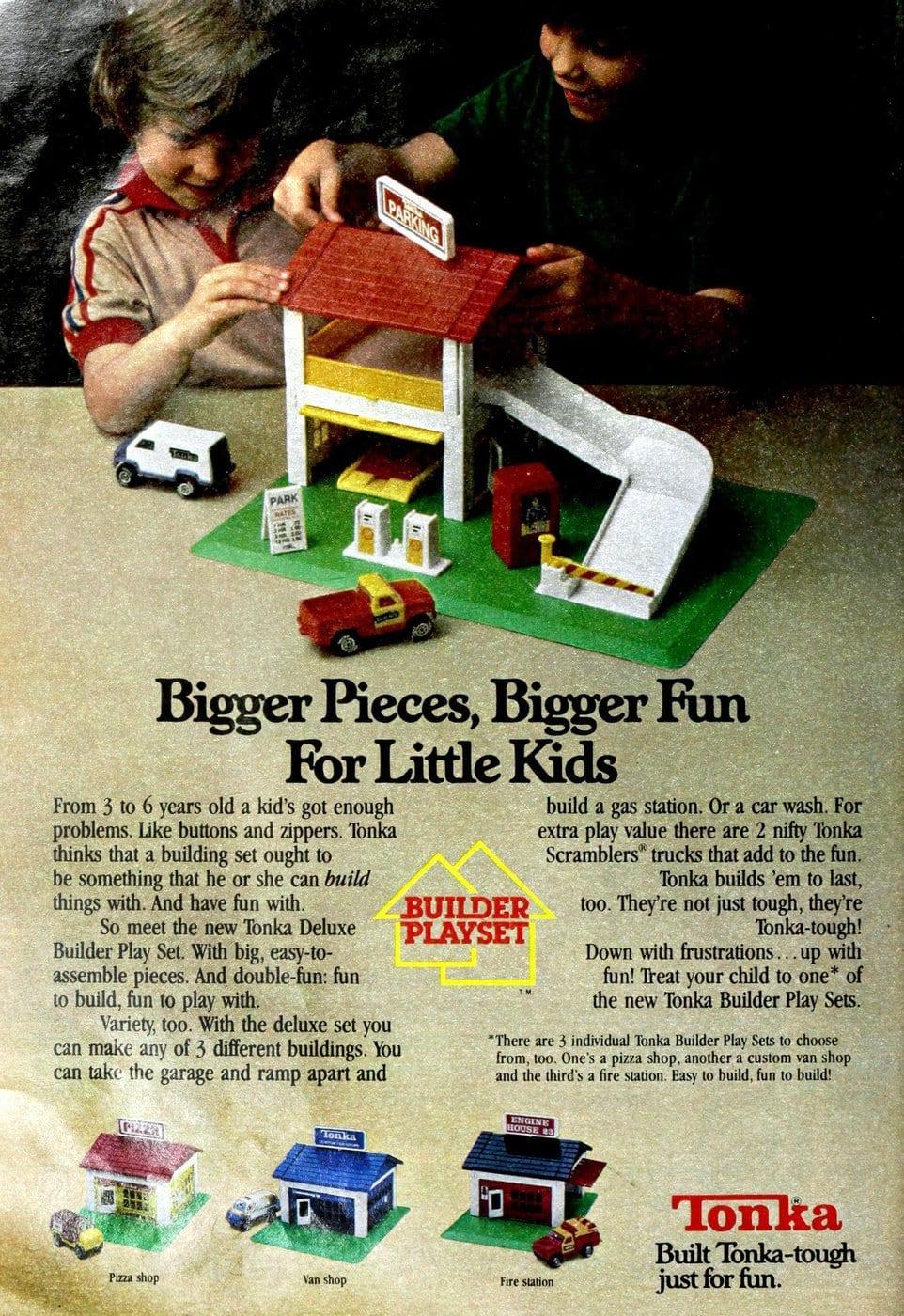 Tonka Builder playsets toys (1979)
