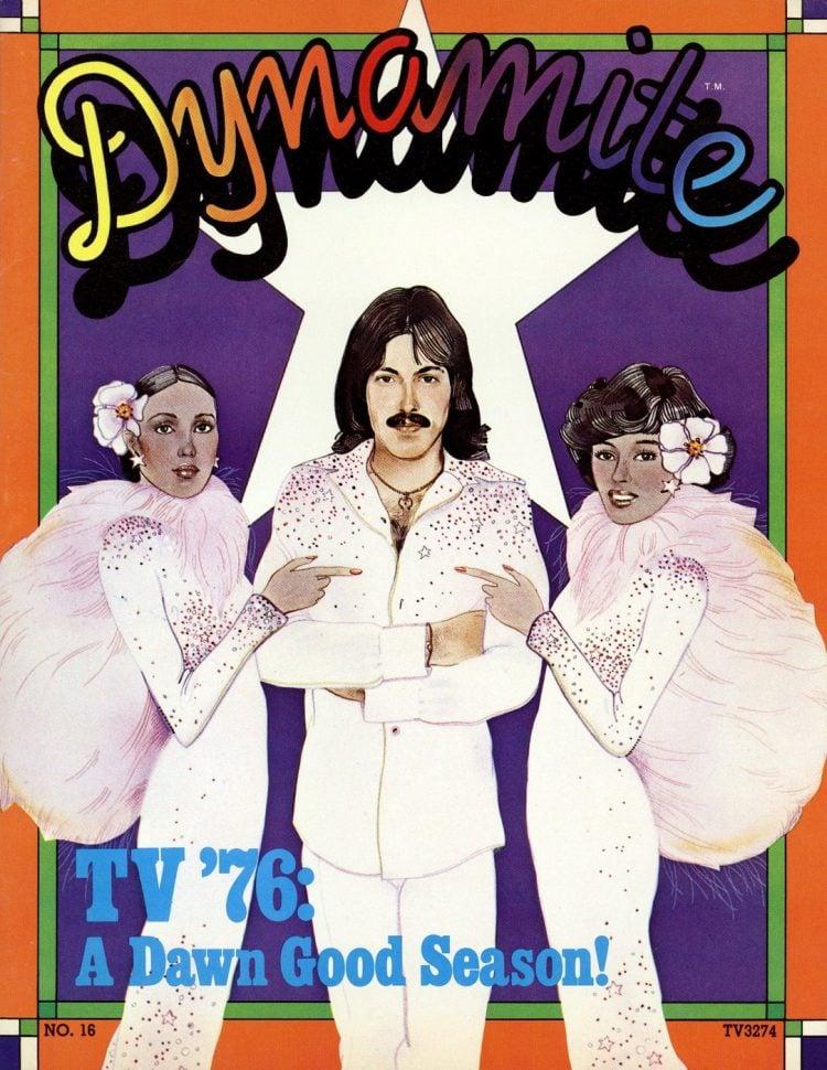 Tony Orlando and Dawn - Telma Hopkins - Dynamite magazine cover Oct 1975