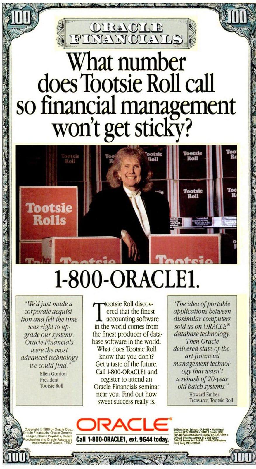 Tootsie Roll owner-CEO Ellen Gordon (1989)