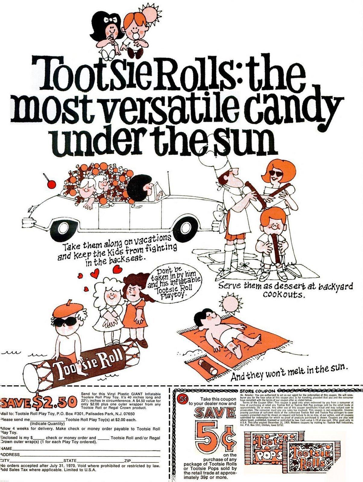 Tootsie Rolls - Versatile candy (1969)
