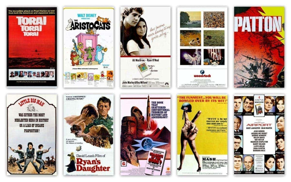 Top 10 movies of 1970 Highest-grossing films
