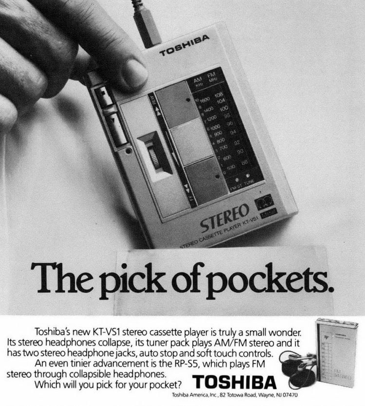 Toshiba KT-VS1 cassette player 1983