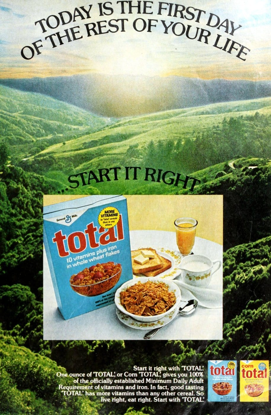 Total cereal from 1973