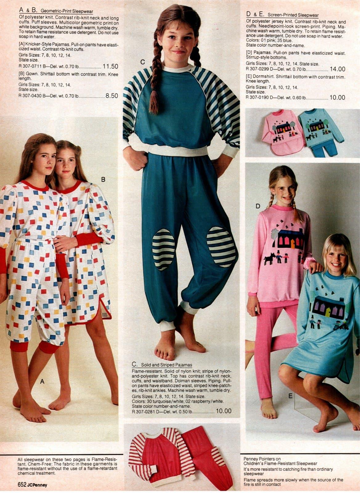 Totally 80s pajama sets for girls