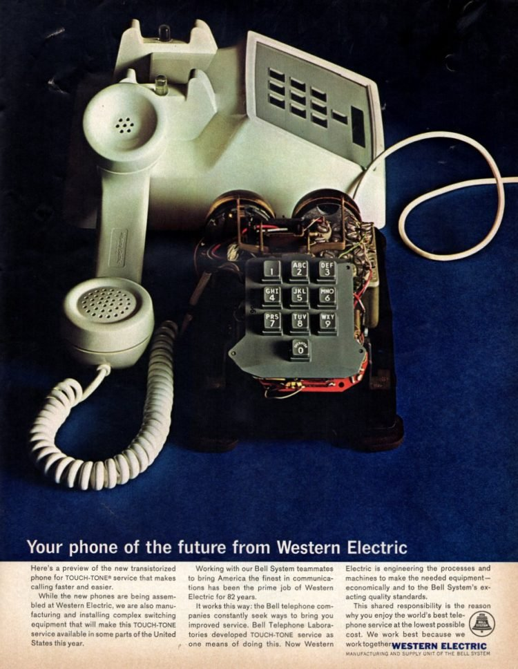 Touch-Tone Bell telephone, made by Western Electric - 1964