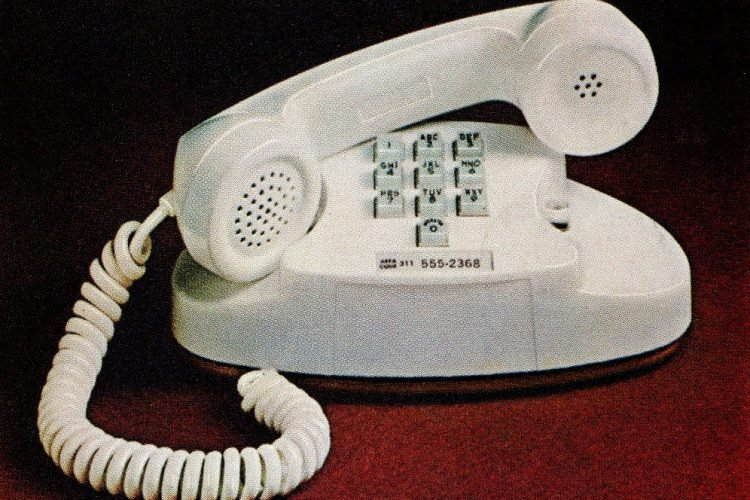 Touch-Tone Bell telephone, made by Western Electric - 1965