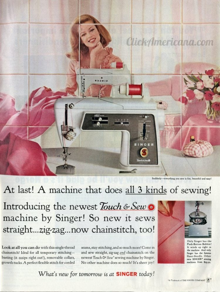 Touch and Sew machine by Singer 1965