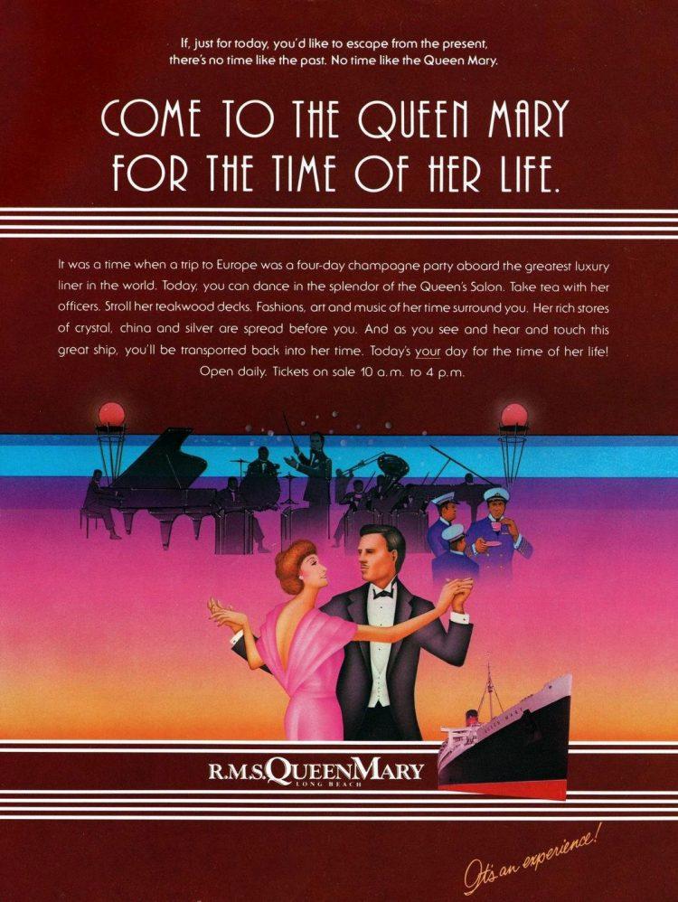 Tour Queen Mary ship - California 1982