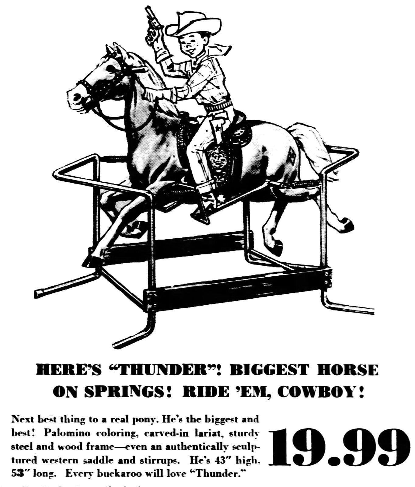 Toy Thunder Horse ride-on toy (1966)
