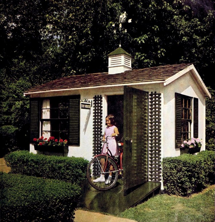 Toy storage playhouse idea from the sixties