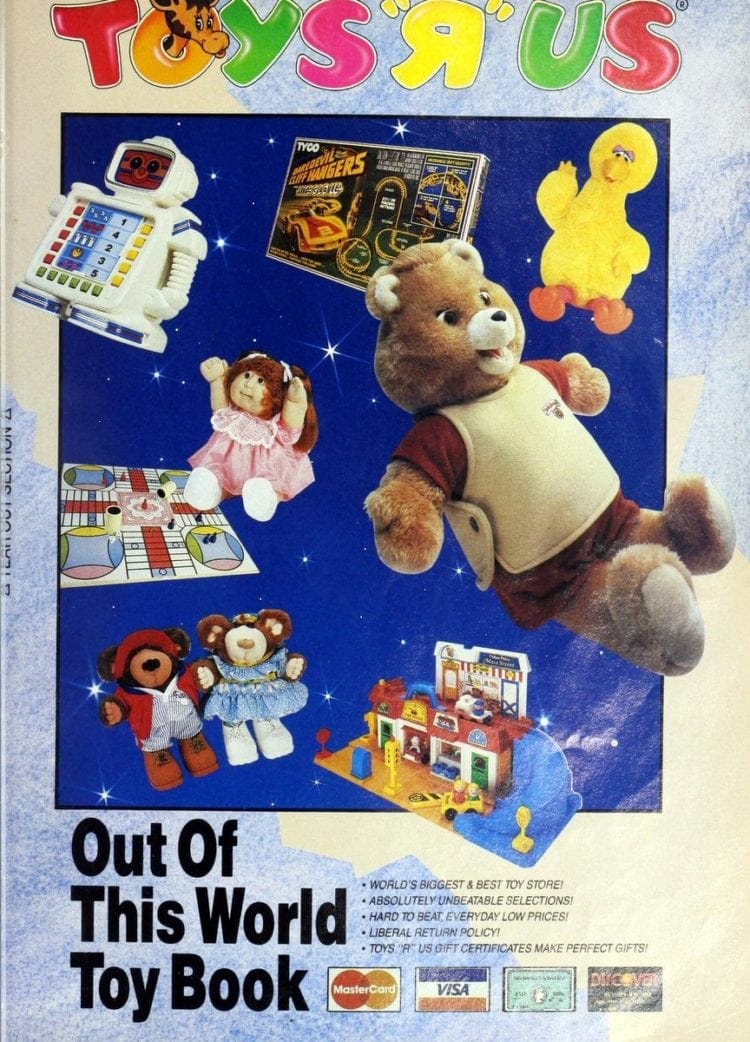 Vintage Toys R Us catalog of Christmas gifts: '80s Out of