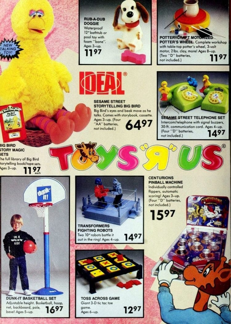 Cabbage Patch Kids dolls & clothes - Coleco toys from '80s Toys R Us catalog