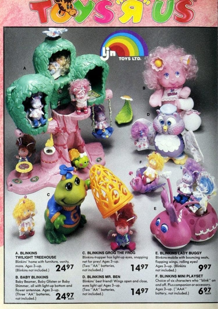 Blinkins toys from Toys R Us catalog in 1986