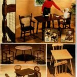 Toy furniture for kids - tables and chairs made from wood