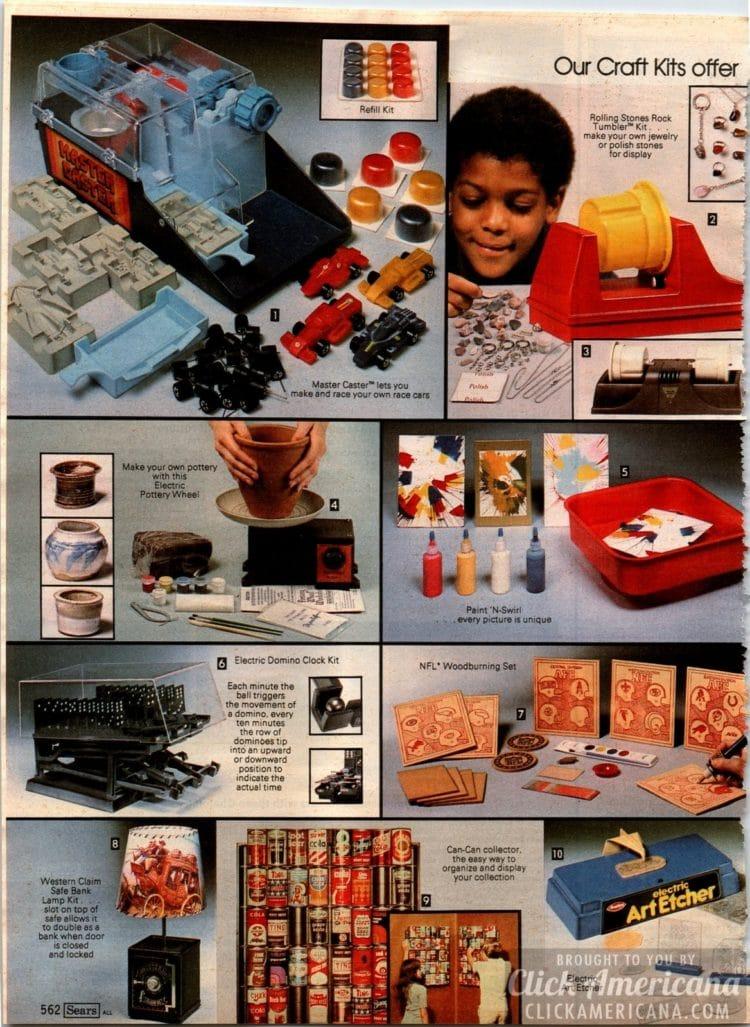 Craft kits for kids - Rock tumbler, Master Caster, Paint N Swirl, Woodburning kit