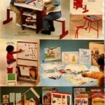 Vintage drawing, painting and other artistic activity toys