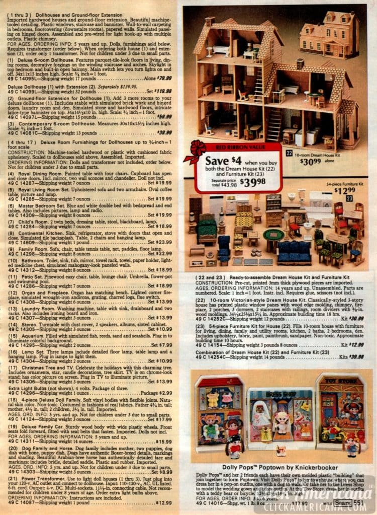 Vintage dollhouses and doll furniture - Dream House