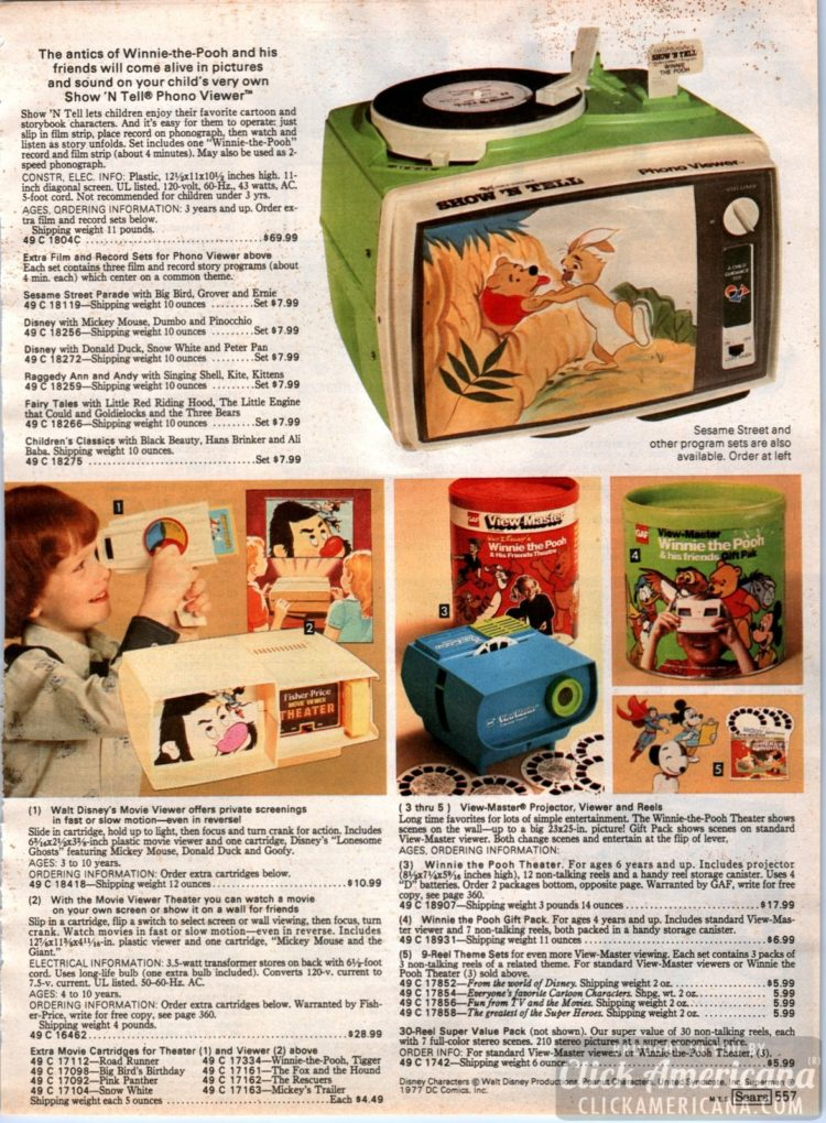 Show 'N Tell Phono Viewer - Record player with view screen - and more retro AV for kids