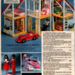 Barbie Dream House with furniture - from Mattel - also Hispanic and Black Barbie, and Barbies's Corvette sports car