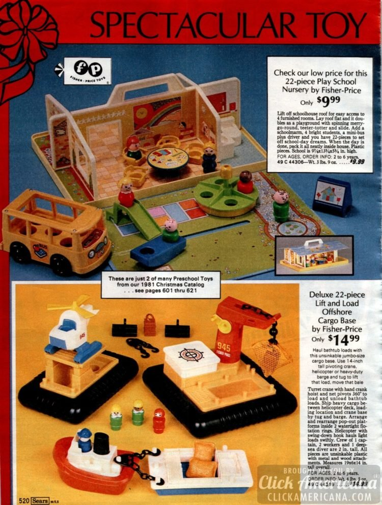 Play School Nursery from Fisher Price - Life and Load Offshore Cargo base toy