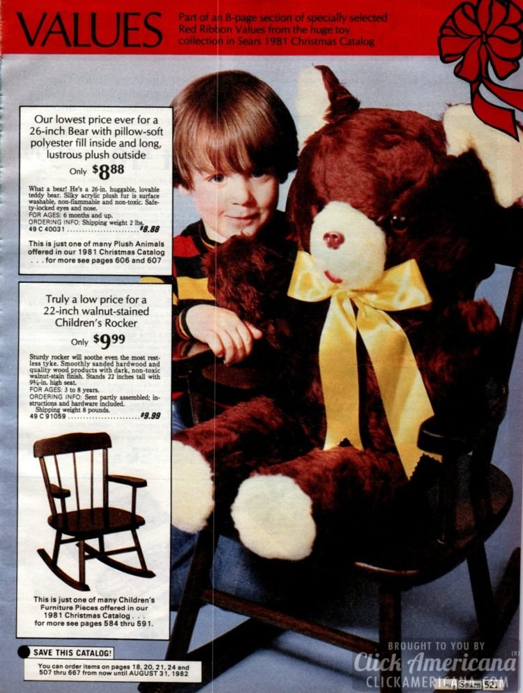 Big plus teddy bear and children's rocker