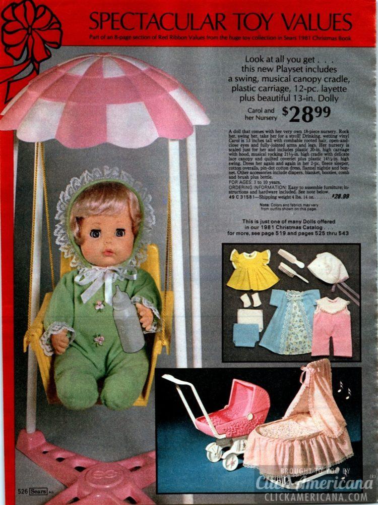 Baby doll Carol and her nursery