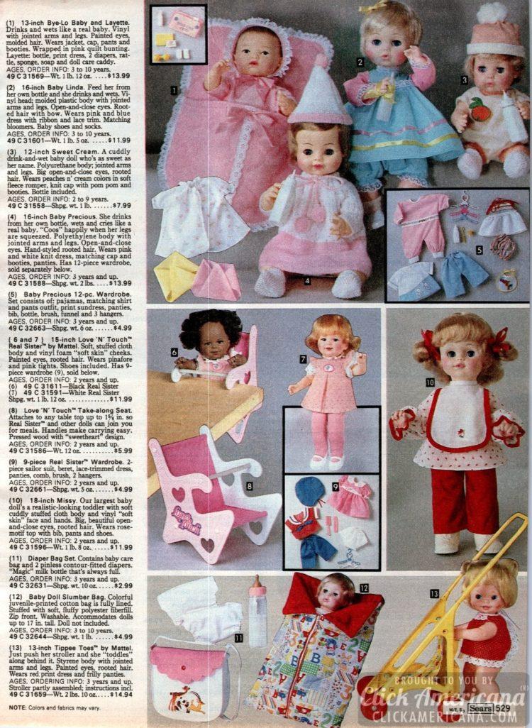 Vintage dolls and accessories - Missy, Real Sister, Baby Linda, Sweet Cream