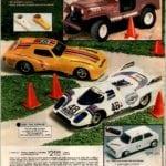 Vintage RC Corvette, Porsche 917K and radio-controlled Jeep CJ toys