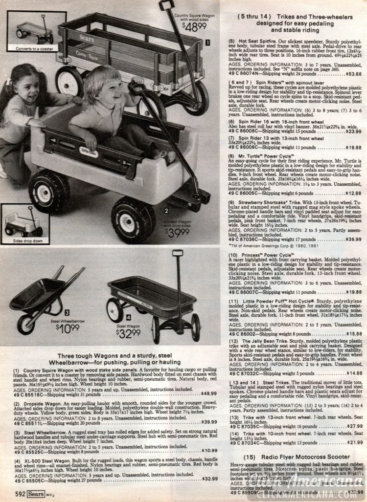 Wagons and wheelbarrows for kids