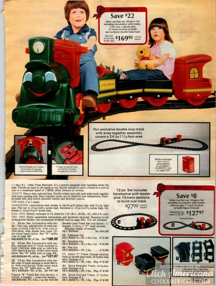 Little Tikes Railroad - A train ride for kids with its own track